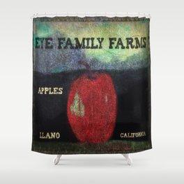 Eye Family Farms Apples Shower Curtain