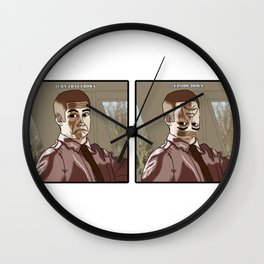 Turn that frown... Wall Clock
