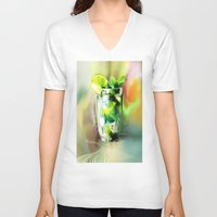 cocktail V-neck T-shirts featuring cocktail by tatiana-teni