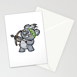 CUTE INDIAN KOALA BEAR Bow and Arrow Cartoon Gift Stationery Cards