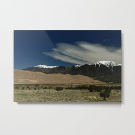 High Mountains and Sand Dunes Metal Print