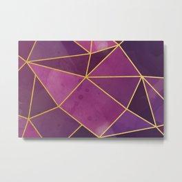 Shattered Tourmaline - Magenta Metal Print