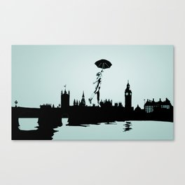 Crossing the Thames Canvas Print