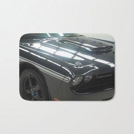 2010 MOPAR '10 Black Challenger Limited Edition White Stripe Variation Bath Mat