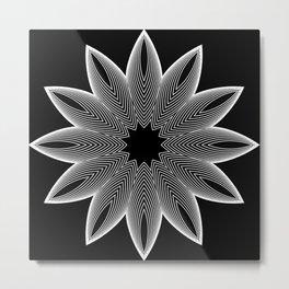 Simple Lines Mandala 2 Metal Print