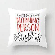 Christmas Morning Throw Pillow
