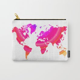 Pink world map Carry-All Pouch