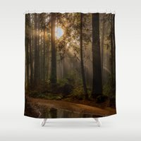 vancouver Shower Curtains featuring Vancouver Woods Reflected by Sierra Whiskey Bravo