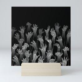 Halloween Horror Zombie Hand Pattern Mini Art Print