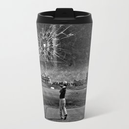 Broken Glass Sky - Black and White Version Travel Mug