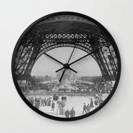 Eiffel Tower - World's Fair 1889 Wall Clock