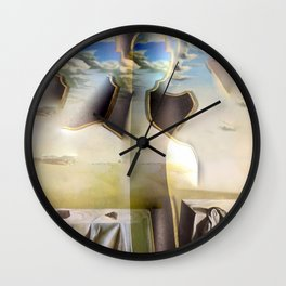 Clouded Trinity Wall Clock