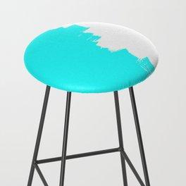 Shiny Turquoise balance Bar Stool