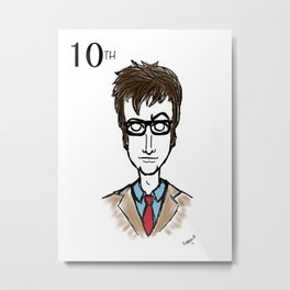 Doctor Who The 10th Doctor  Metal Print