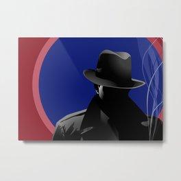 Smoking Detective Metal Print