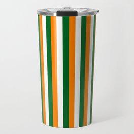 Team Colors 4... orange green white Travel Mug