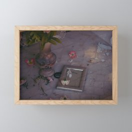 Life has to fade Framed Mini Art Print