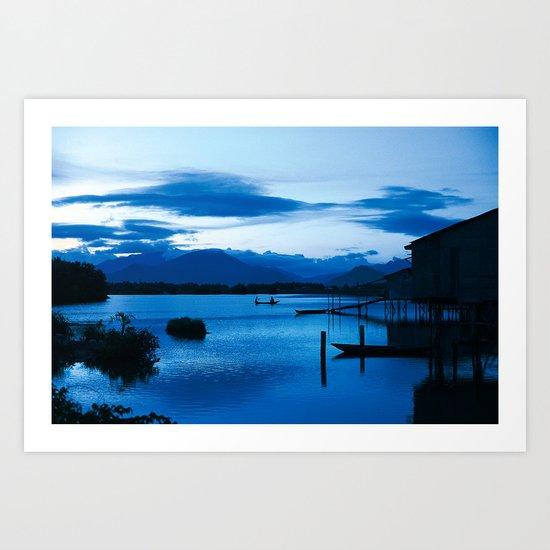 BLUE VIETNAMESE MEDITATION Art Print