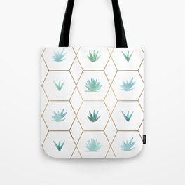 Geometric Succulents Tote Bag