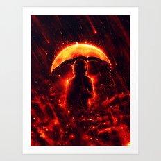Cosmic Rain Art Print