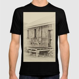 Antique plate style old loading dock T-shirt