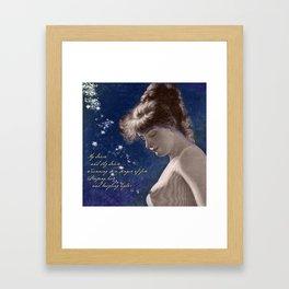 Poetry Girls: Butterfly Girl Framed Art Print
