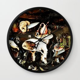 Bosch Garden Of Earthly Delights Panel 3 - Hell Wall Clock