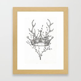 Crown and Stag Framed Art Print