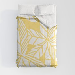 Tropical Palm Tree Composition 731 Yellow Comforters