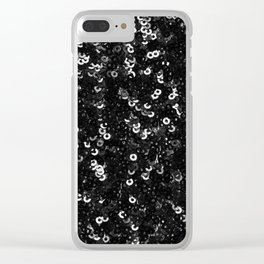 SEQUINS Clear iPhone Case