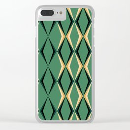 Art Deco Green & Gold Clear iPhone Case