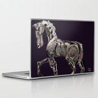 steam punk Laptop & iPad Skins featuring Steam Punk Horse by tgronberg