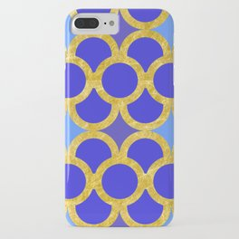 Blue Gold Scales iPhone Case