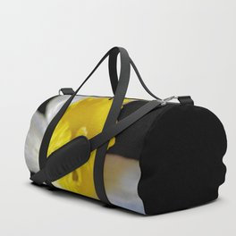 Dainty Daffodil On Black Duffle Bag