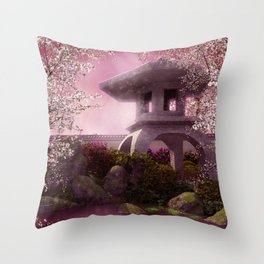 Oriental Garden Throw Pillow