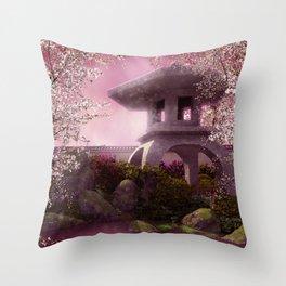 Oriental Garden Throw Pillow