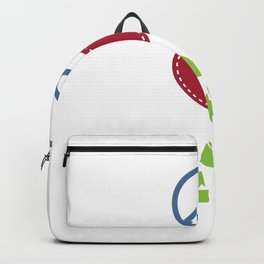Peace Love Recycle Earth Day Environmental Awareness Backpack