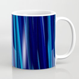 Stripes  - Ocean blues and black Coffee Mug