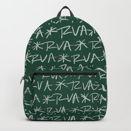 RVA Cream on Green Backpack