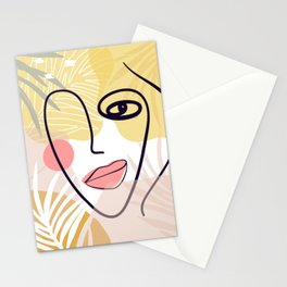 minimal, modern Eye. cute face, mode, payment, form, mood Stationery Cards
