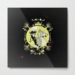 Count Dracula (yellow) Metal Print