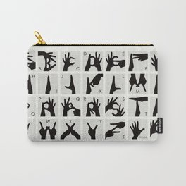 Finger Alphabet for Two Hands Carry-All Pouch