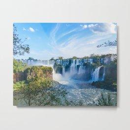 Majestic Iguazu Waterfalls Fine Art Print Metal Print