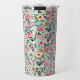 Schnauzer floral must have dog breed gifts for schnauzers owners florals Travel Mug