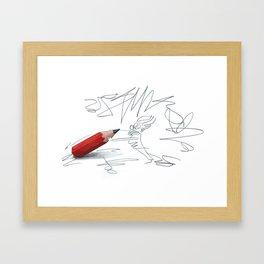 writingfighting Framed Art Print
