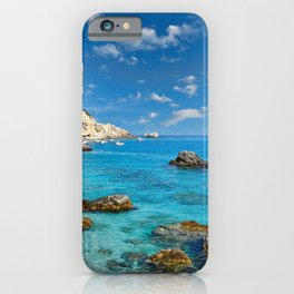 The famous village Agios Nikitas in Lefkada, Greece iPhone Case