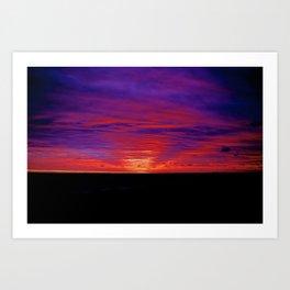 Rhode Island Beach Sunset Art Print