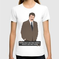 ron swanson T-shirts featuring Ron Swanson by Jack Cruden