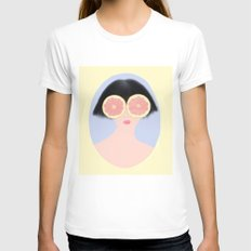 CITRUS & GIRL SMALL Womens Fitted Tee White