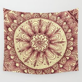 mandala: maroon Wall Tapestry